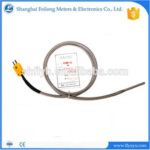 armoured stem probe 2 wires k type thermocouple with stainless steel ss armor soft tube