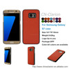 Hot Sale PU Leather Flip Cover Mobile Phone Case For Samsung Galaxy S7, For Samsung S7 Case, Orange