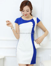monroo 2014 western style summer new fashion big size fitable short-sleeve women's dress