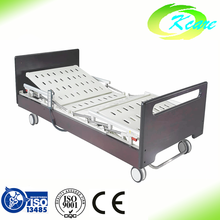 Adjustable electric three functions elderly home hospital care bed for patient
