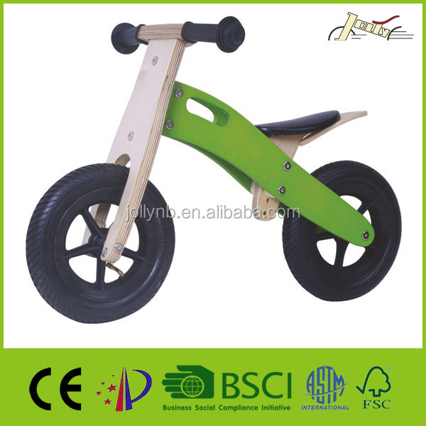 "10"" Indian Wooden Balance Bikes as Baby Bicycles Toy"