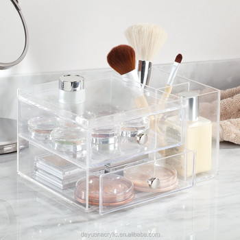 Handmade wholesale acrylic makeup organizer with drawers