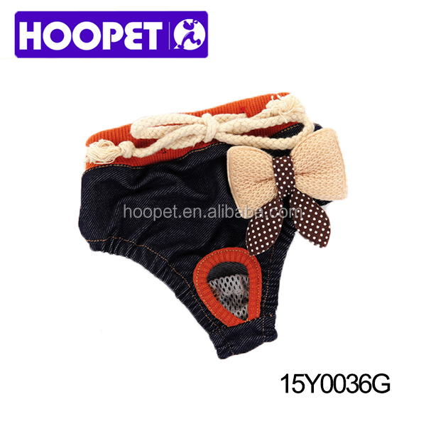 Denim sanitary pants dog clothes factory from china