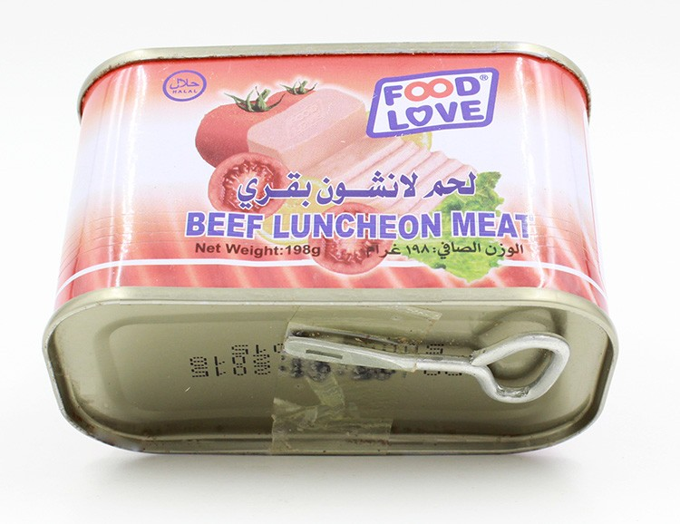 Wholesale hahal meat price beef meat canned beef luncheon meat