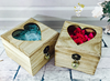 Square shape wooden gift box for flower