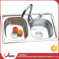 OEM accept CUPC approve 710*430*210mm small double stainless steel kitchen sink for hotel