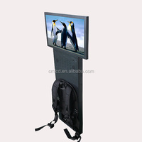 24 inch backpack outdoor display lcd human walking mobile billboard player(support SD card&USB drive)