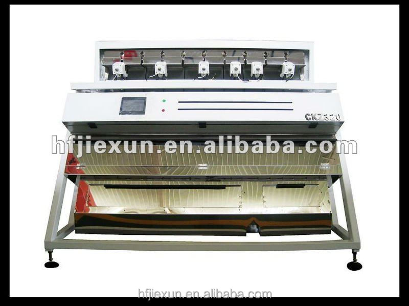 Intelligent optical rice color sorter machine