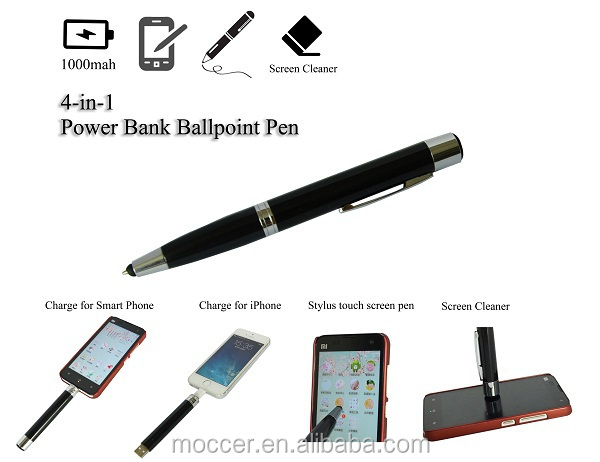 Promotion gift ball pen mobile charger stylus pen usb port pen portable power charger