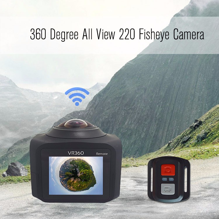 2.4G wifi and app remote control super 360 degree all view panoramic sports camera