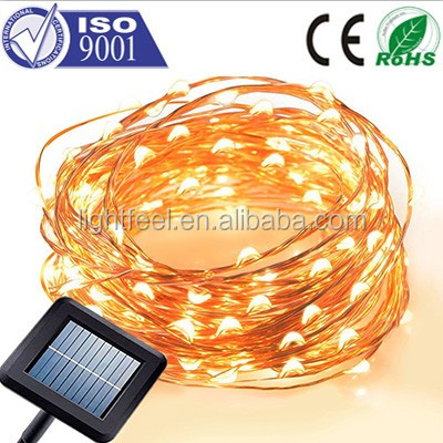 Copper Wires Solar Energy christmas decorations led copper string ligh,Solar Operated Copper Wire String Light