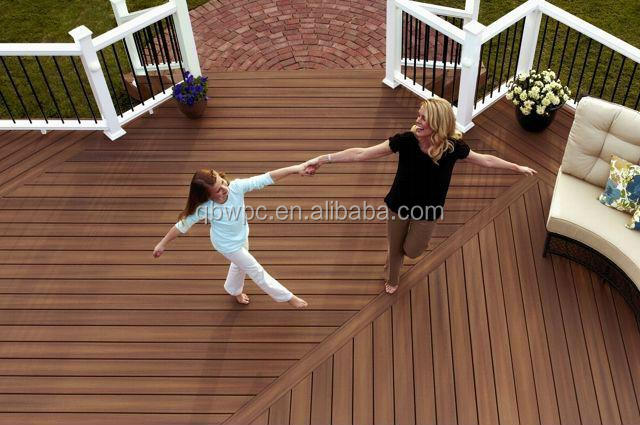 Eco-friendly and duarble wpc interlocking flooring for outdoor patio
