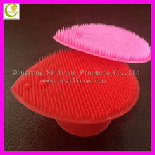 As seen on TV 2015 silicone facial cleansing brush,charming purple color silicone rubber cleaning face brush