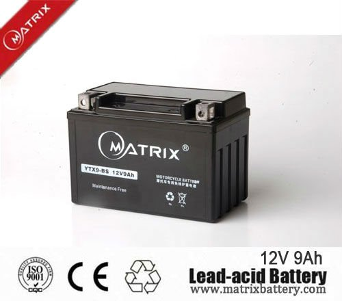 12n9 12V 9Ah maintenance free scooter mf 12v motorcycle battery with best price