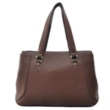 New Coming Brown and Black Reversible Vegan Leather Tote Bag Large capacity leather bag