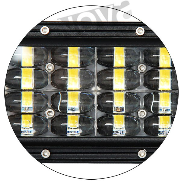 LED Latest 4D optic Additional 4 rows LED light bar motocycle headlights