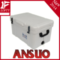 Plastic hinge ice cooler box with handle 75L