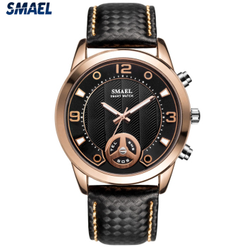 2019 SMAEL factory  LY 1385 wristwatches men leather strap bluetooth smart watch
