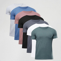 China Factory Hongxiong Latest Style 180 Grams Short Sleeve Round Neck Cotton Blank Men Korea Wholesale T-Shirt