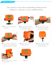 Wearable Portable Rescue Device Float Wristband swimming pool equipment