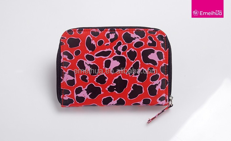 Personalized makeup brush bag travel size makeup case with animal pattern