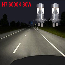 High Power 30W H4 H7 H11 XB-D LED Car Fog Head Driving Daytime Running Light Bulbs