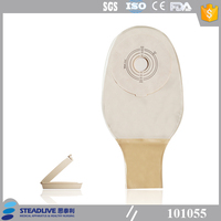 medical disposable colostomy bag with flexible flange
