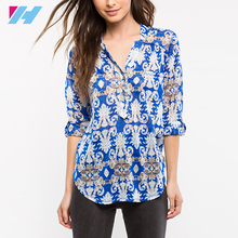 Dongguan Yihao summer new designs ladies fashion tops and blouses for women 2016