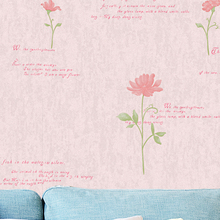 Yuran country style pvc flower stereoscopic decor wallpaper
