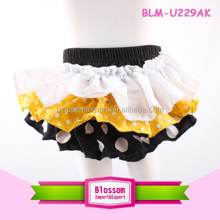 Newborn Baby Red Black Polka Dots Ruffles Satin Panties Bloomers mikcy panty