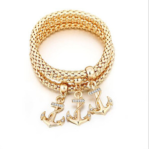 Europe Style Mens Anchor Nautical Rope Mustache Charm Rope Braided Colorful Cord Bracelet Men