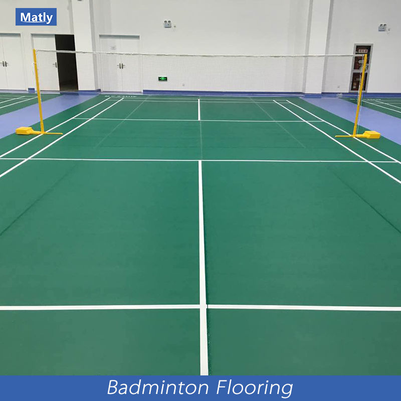 Professional Indoor PVC Plastic Sports Flooring court mat for badminton / table tennis / volleyball/ gym / dance room