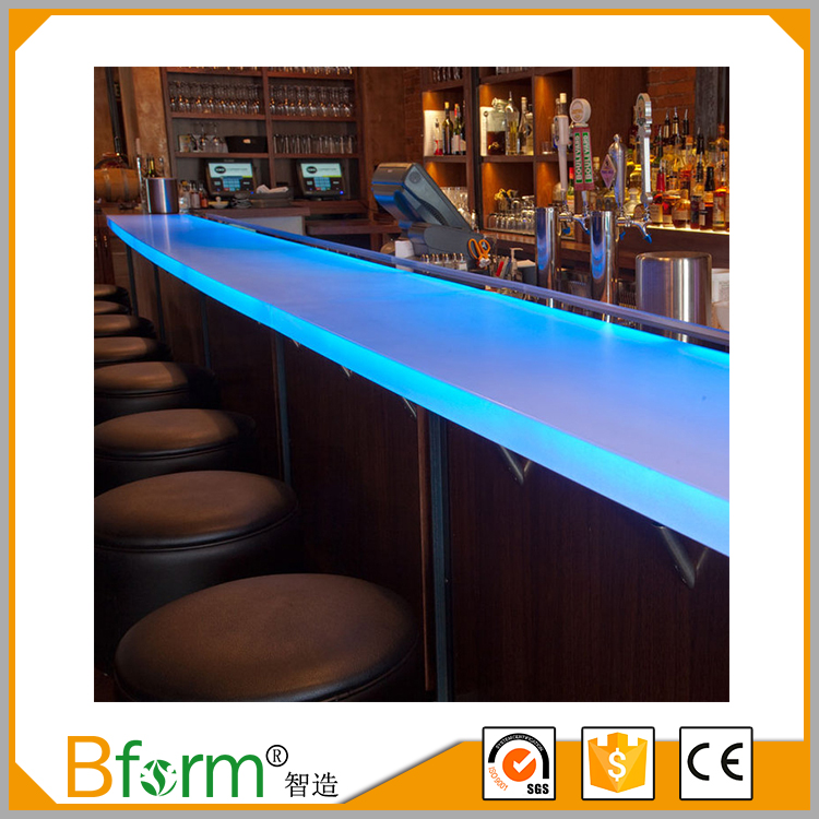 China Supplier Acrylic Panel Modern Bar Counter For Sale