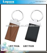 High quality black and brown leather keychain