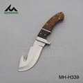 Blade hunting knife wth wood handle
