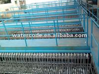 Dyeing waste water treatment plant with reinforced PVDF