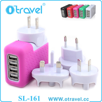 12W 4 USB port Power Adapter Mobile Phone Travel Wall Charger