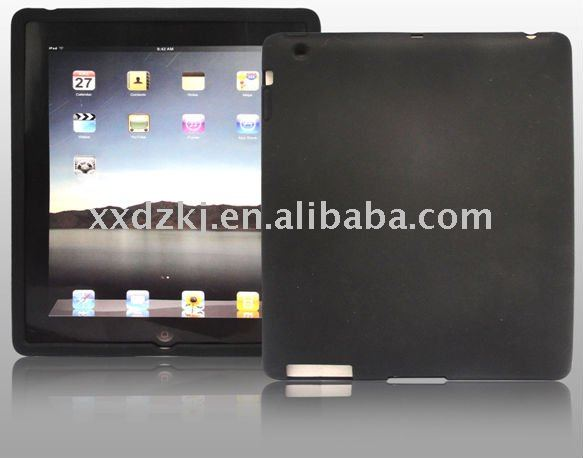 black silicone back cover for ipad 2 case