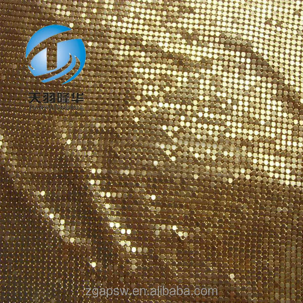 Decorations Shiny Metal Curtain Fabric