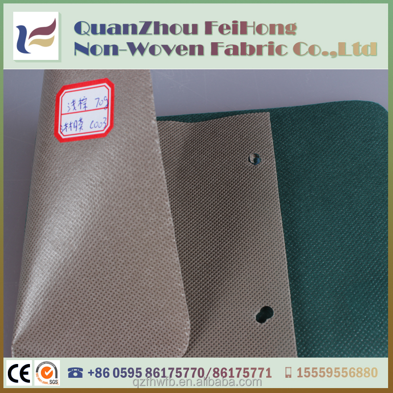Okeo-Tex Standard 100 PE Film Laminated Waterproof PP Non-woven Fabric Factory