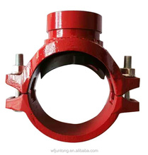 UL FM CE approval ductile iron grooved pipe fittings and couplings threaded/grooved mechanical cross/tee grooved threaded outlet