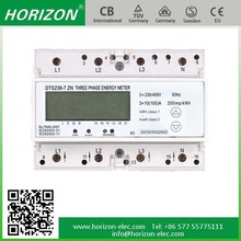 DTS238-7 ZN RS485 Smart three phase power/voltage/current meter 4 tariff solar dc energy meter