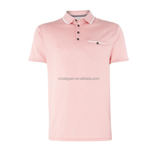 Custom your design printing cool pique tipped collar polo shirt
