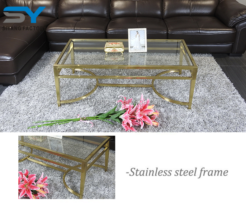 Vietnam furniture manufacturer scandinavian swivel glass coffee table CJ011