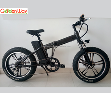 "fat tire foldable electric bike/20"" mountain folding e bike fatbike with e-bike alloy rim"