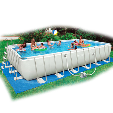 2017 popular Outdoor Family enjoying water pool Intex framed swimming pool