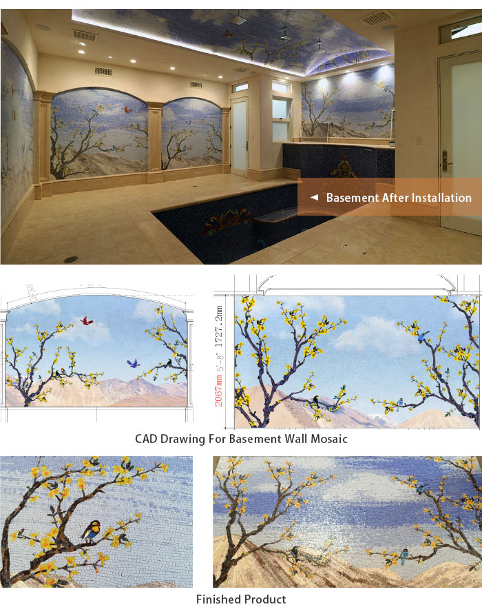 Beverly Hills project selling good glass art mosaic pattern for swimming pool tiles