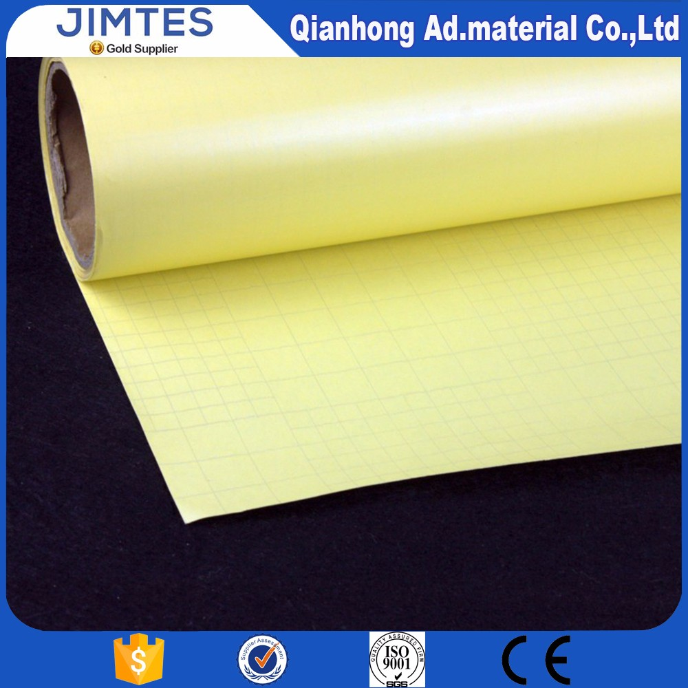 High Quality Gray Grid Glossy PVC Cold Laminating Film