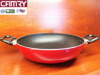 aluminum nonstick kadai/wok with double handles
