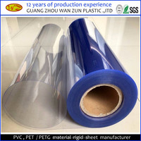 best selling micron transparent rigid plastic PVC sheet roll